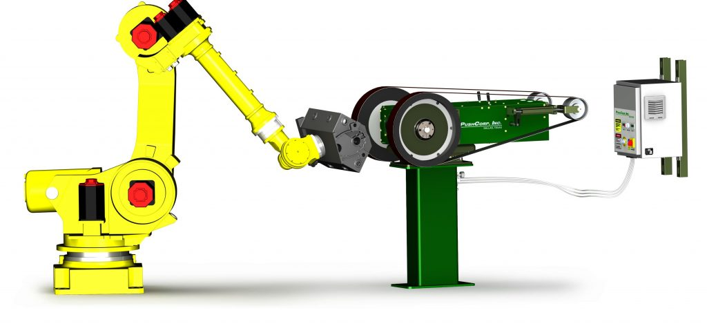 Robotická pásová bruska